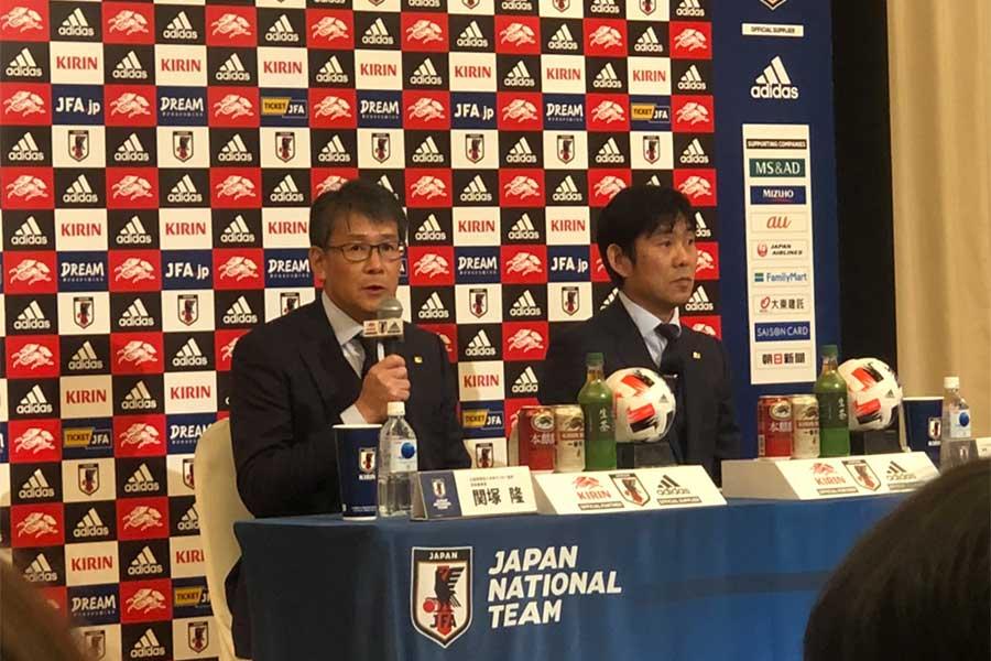 U-23日本代表メンバー発表会見が行われた【写真:Football ZONE web】