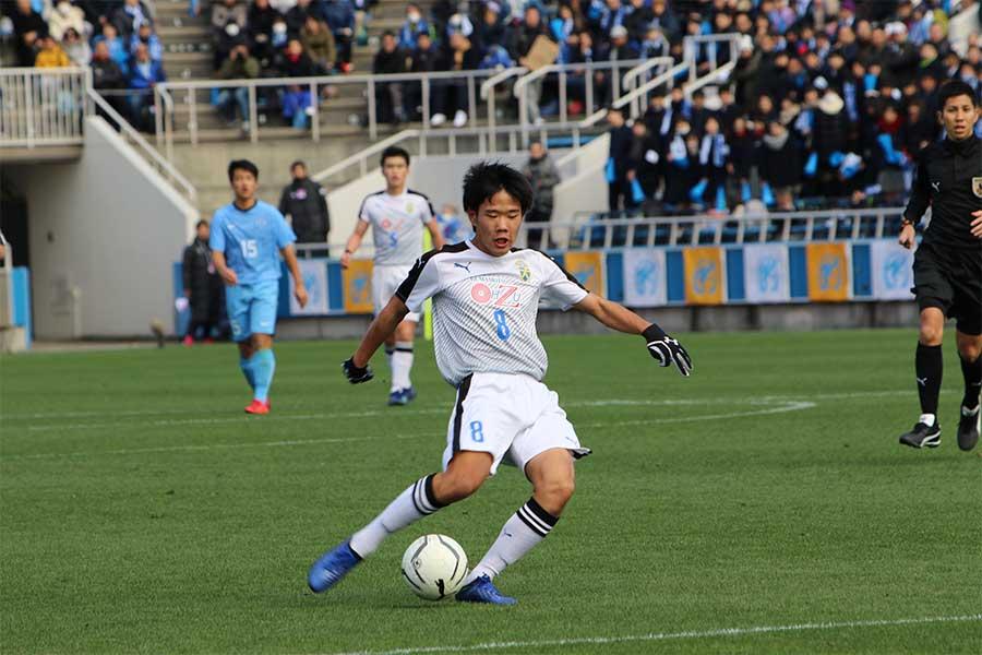 ハットトリックを達成した大津のMF大竹悠聖【写真:Football ZONE web】