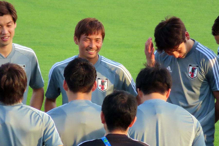 日本代表MF乾が大きな期待を寄せる2選手とは?【写真:Football ZONE web】