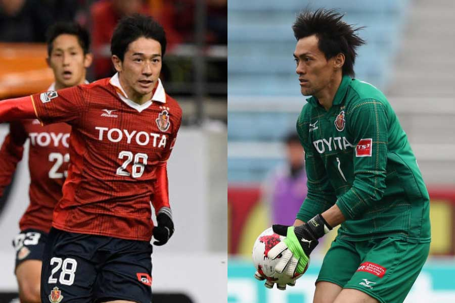 (左から)FW玉田、GK楢崎【写真:Getty Images】