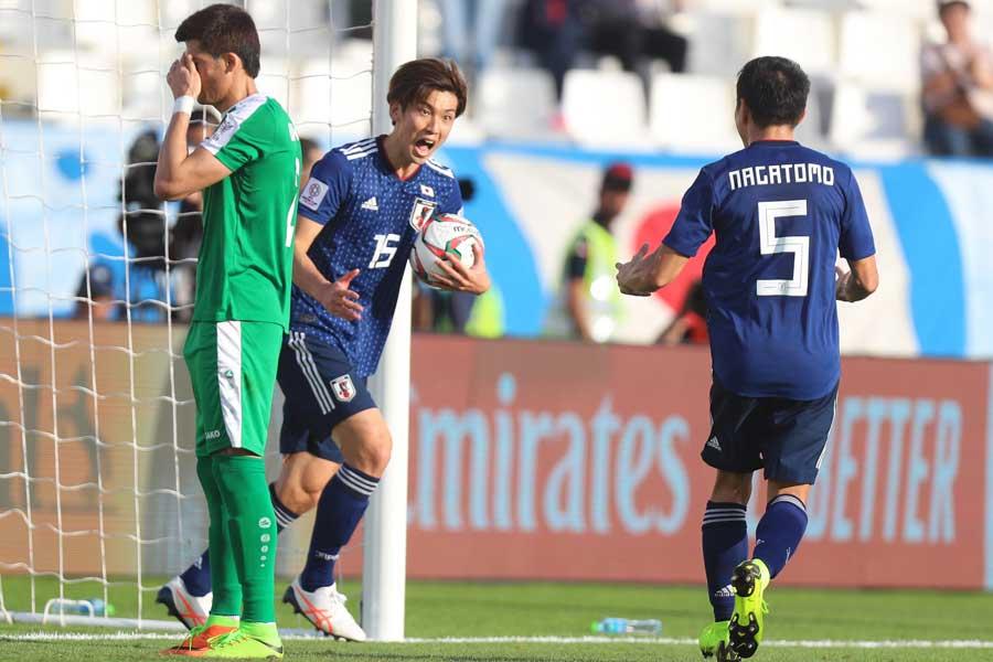 トルクメニスタン戦で2ゴールを決めた日本代表FW大迫【写真:ⒸAFC】