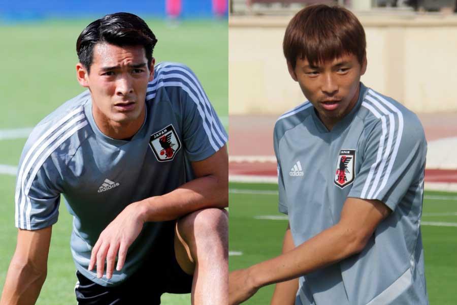 (左から)日本代表DF槙野、MF乾【写真:AP&Football ZONE web】