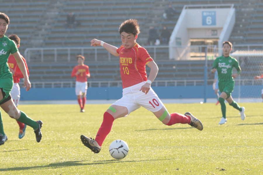 帝京長岡のU-18日本代表FW晴山岬【写真:河合拓】