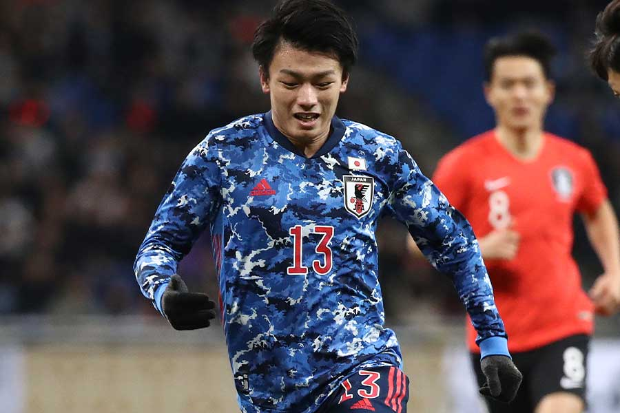 FW上田綺世が先発出場でチームを勝利に導けるか(写真はE-1選手権のもの)【写真:Getty Images】