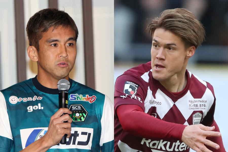 稲本(左)は酒井と久々の再開を果たした【写真:高橋学&Football ZONE web】