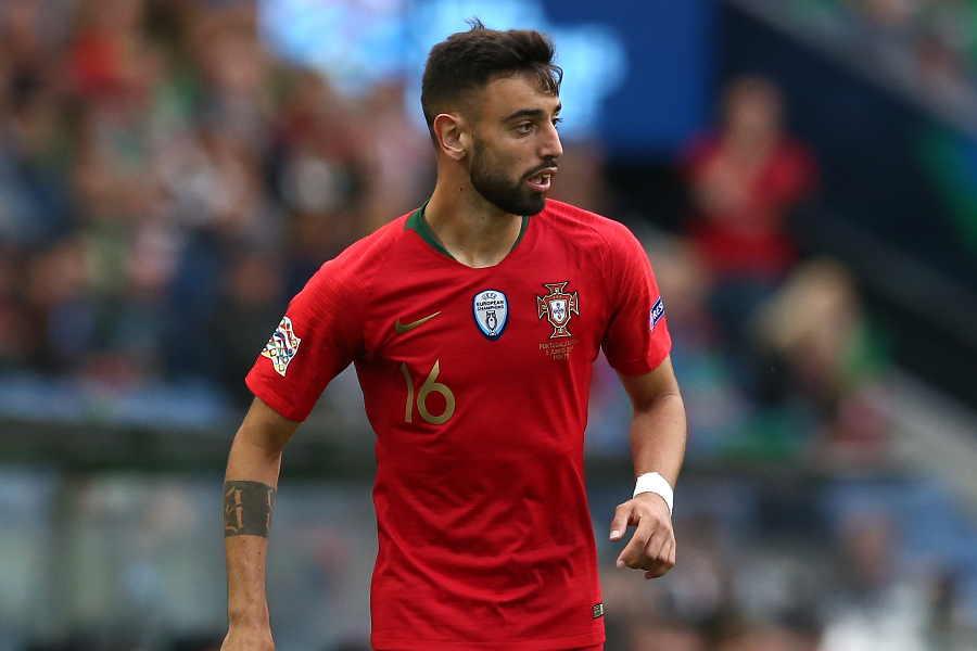 スポルティングCPのポルトガル代表MFブルーノ・フェルナンデス【写真:Getty Images】