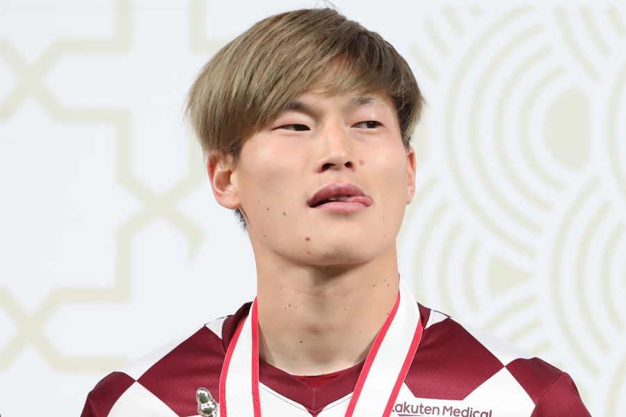 ヴィッセル神戸の日本代表FW古橋亨梧【写真:高橋学】