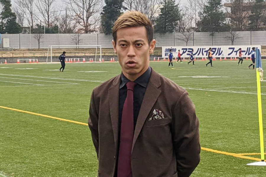 新クラブ「One Tokyo」のトライアウトに姿を現した本田圭佑【写真:Football ZONE web】