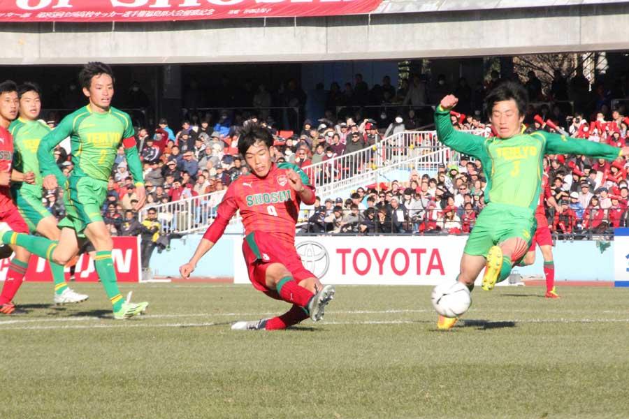 快進撃の尚志、帝京長岡に1-0勝利で4強進出【写真:Football ZONE web】