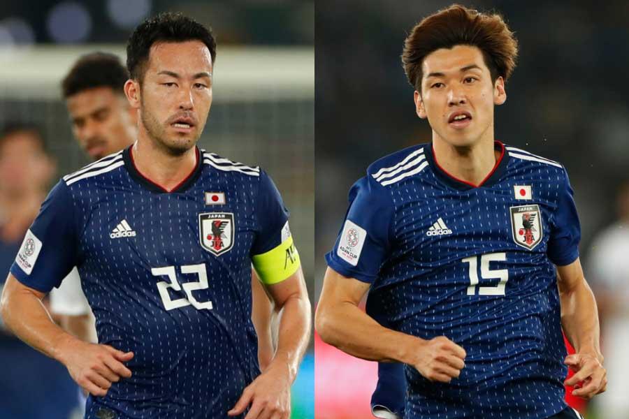 (左から)日本代表DF吉田、FW大迫【写真:田口有史】