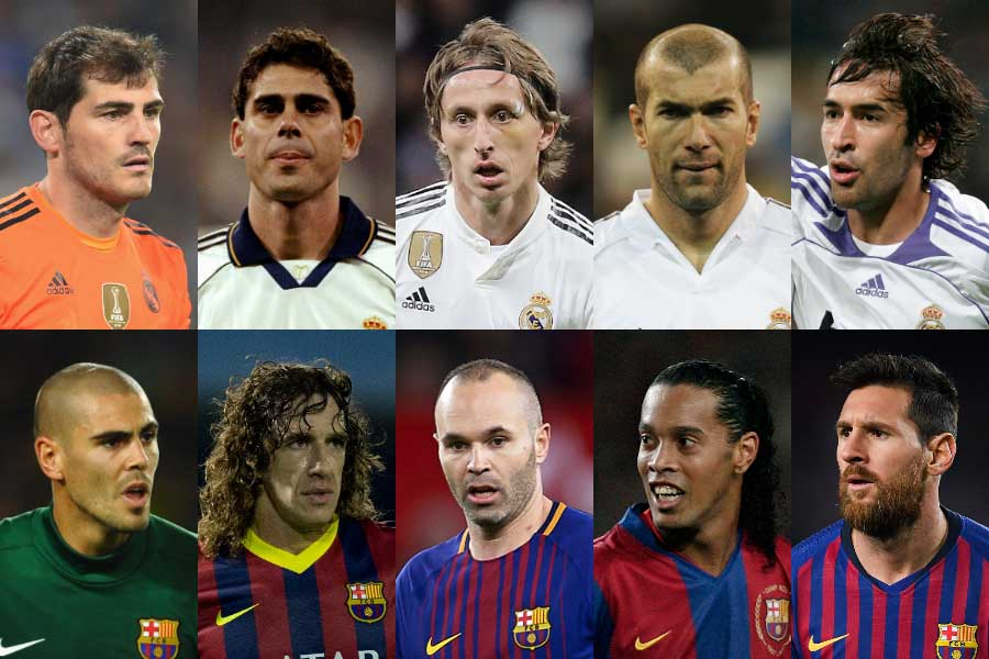 英サッカーサイト「90min」がバルサとレアルのポジション別歴代ベストプレーヤーを選出【写真:Getty Images】