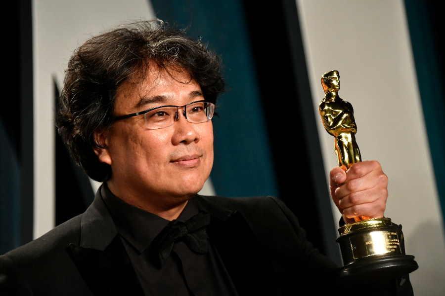 映画「パラサイト 半地下の家族」でアカデミー賞を受賞したポン・ジュノ監督【写真:Getty Images】