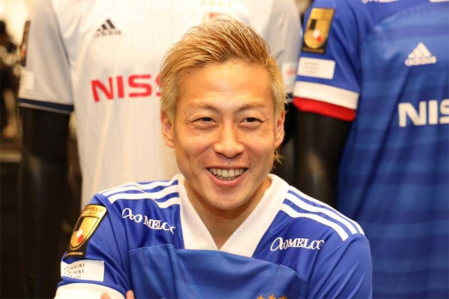昨シーズン以上の活躍が期待される横浜F・マリノスのFW仲川輝人【写真:高橋学】