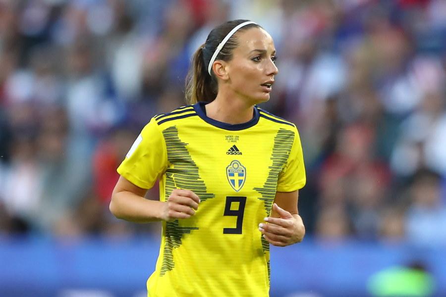 スウェーデン女子代表FWアスラニ【写真:Getty Images】