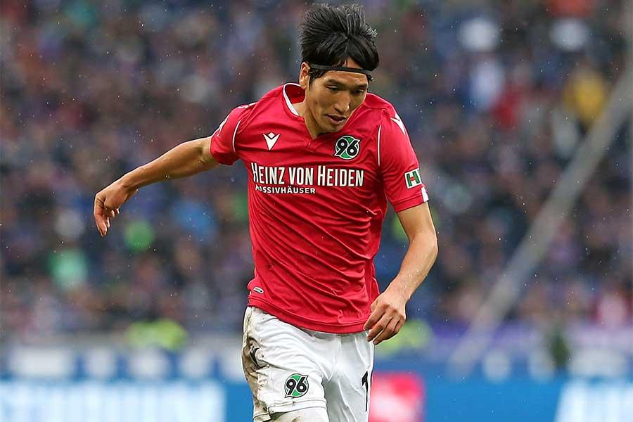 ハノーファーでプレーする日本代表MF原口元気【写真:Getty Images】