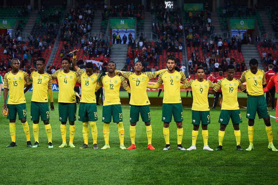 新型コロナ流行に南アフリカ側が危機感をあらわに(写真は2019年U-20W杯出場時の南アフリカ代表チーム)【写真:Getty Images】