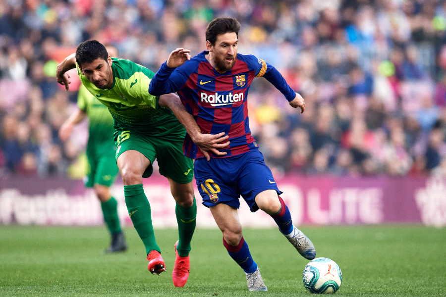 エイバル戦で4ゴールを奪ったバルセロナFWメッシ【写真:Getty Images】