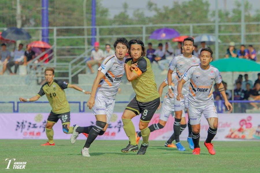 カンボジア1部で日系クラブが激突した【写真提供:アンコールタイガーFC】
