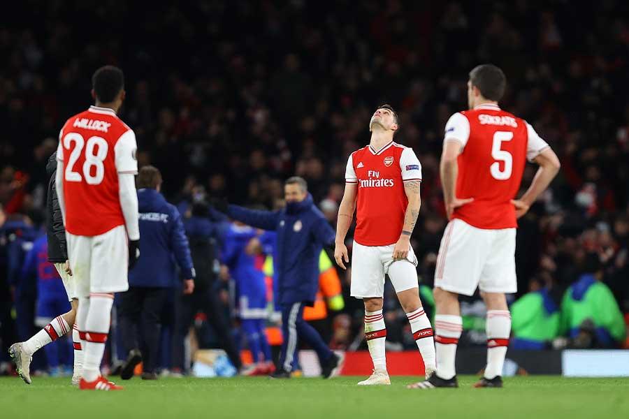 ヨーロッパリーグのラウンド32で敗退となったアーセナル【写真:Getty Images】