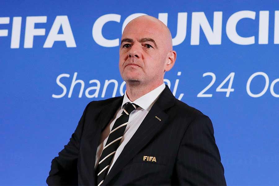 国際サッカー連盟(FIFA)のジャンニ・インファンティノ会長【写真:Getty Images】
