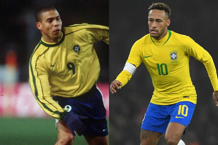 元ブラジル代表FWロナウド氏(左)とFWネイマール【写真:Getty Images】