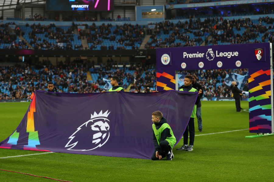 欧州各国リーグ同様に、プレミアリーグも中断を余儀なくされた【写真:Getty Images】