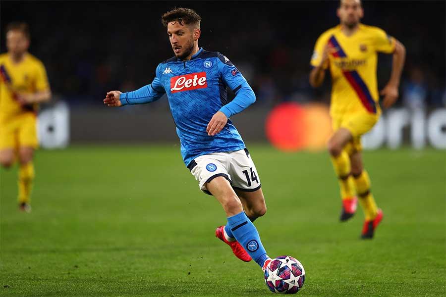 ナポリでプレーするベルギー代表FWドリース・メルテンス【写真:Getty Images】