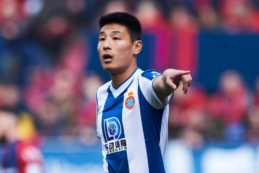 中国代表FWウー・レイ【写真:Getty Images】