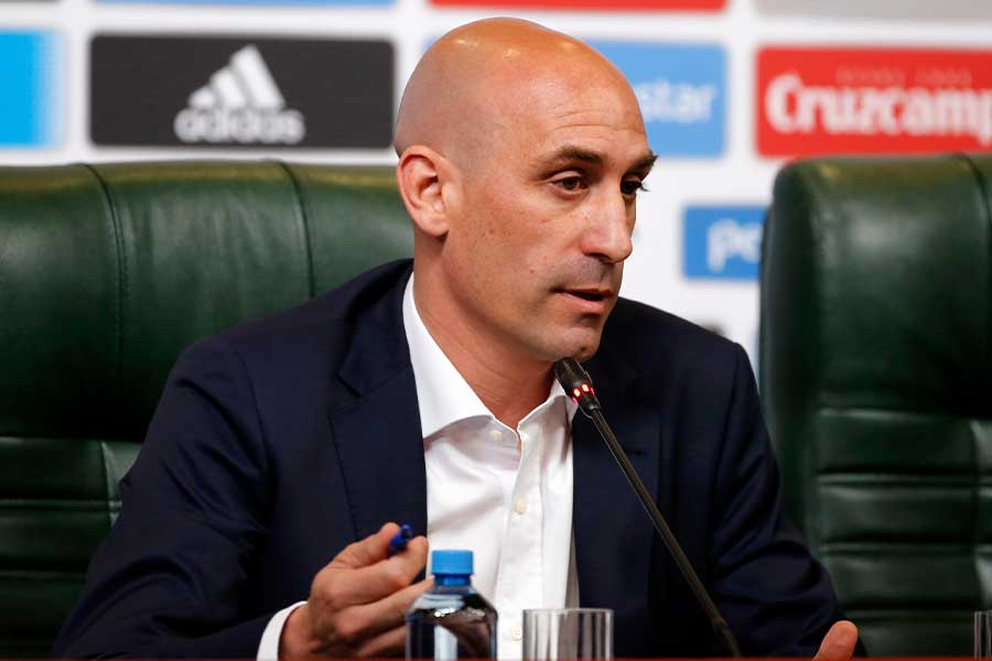 スペインサッカー連盟のルイス・ルビアレス会長【写真:Getty Images】