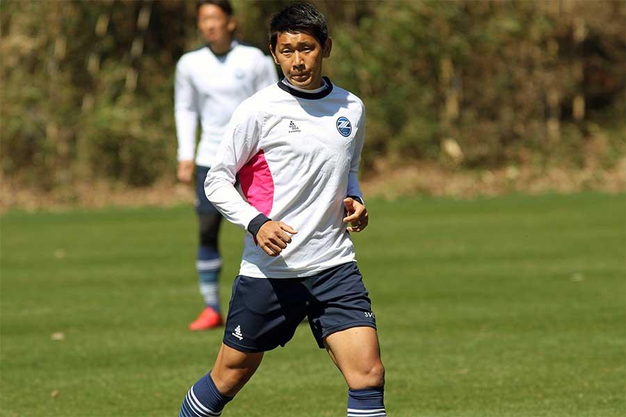 今シーズンから主将を務めるDF水本裕貴【写真:Football ZONE web】