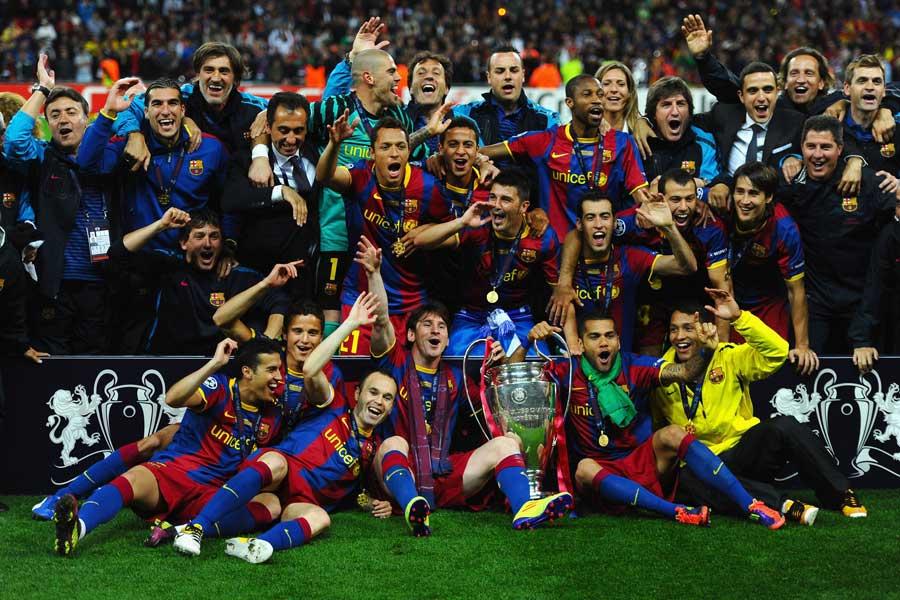 10-11シーズンのチャンピオンズリーグを制したバルセロナ【写真:Getty Images】