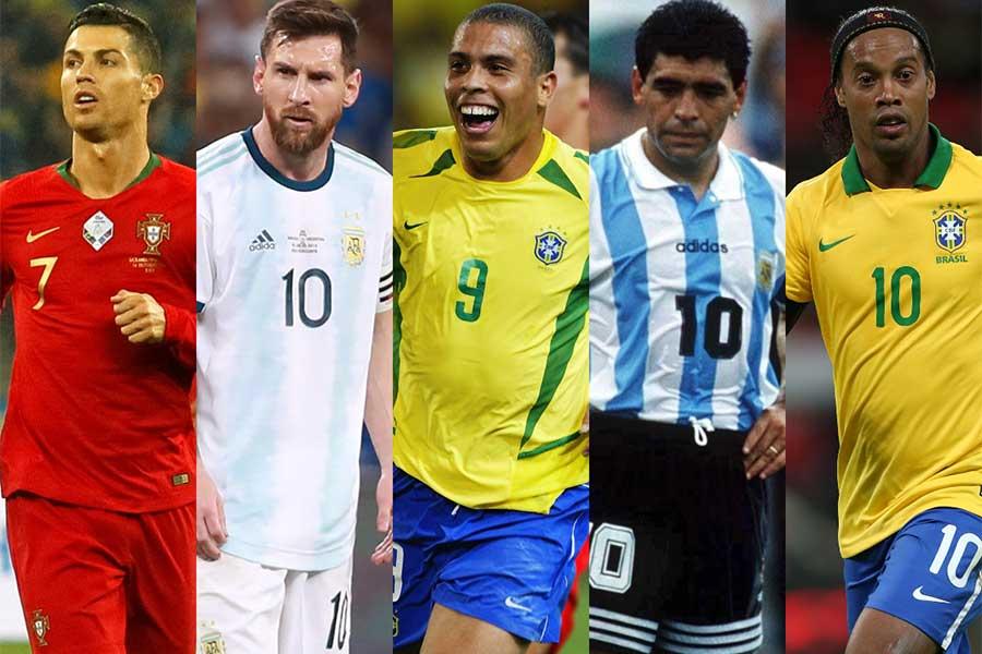 フットボール界歴代最高の選手、通称GOAT(Greatest Of All Time)に選ばれた選手たちとは【写真:Getty Images】