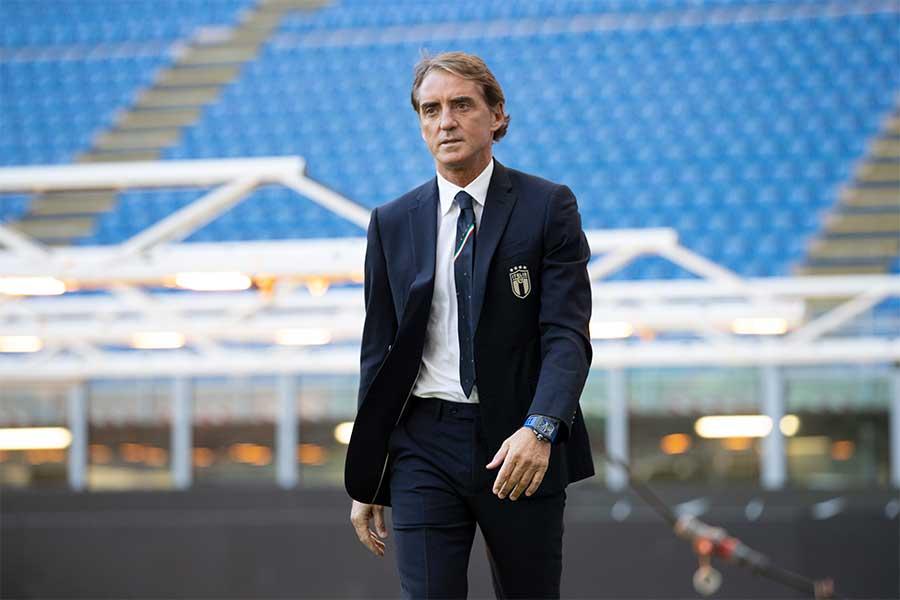 イタリア代表監督を務めるロベルト・マンチーニ監督【写真:Getty Images】