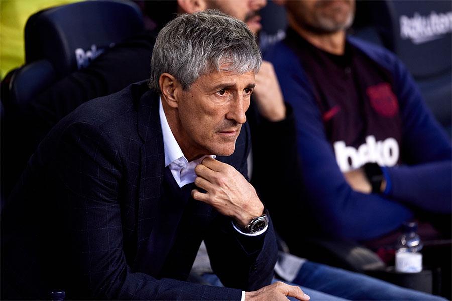 今シーズンの途中からバルセロナの指揮を執るキケ・セティエン監督【写真:Getty Images】