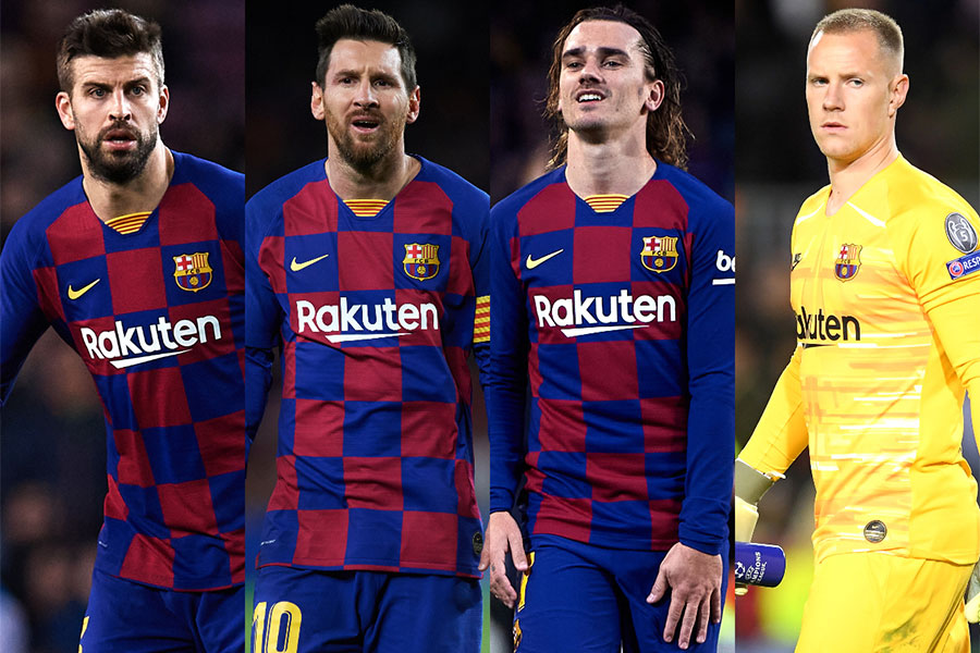 バルセロナの選手たちの普段見れない私服姿に注目【写真:Getty Images】