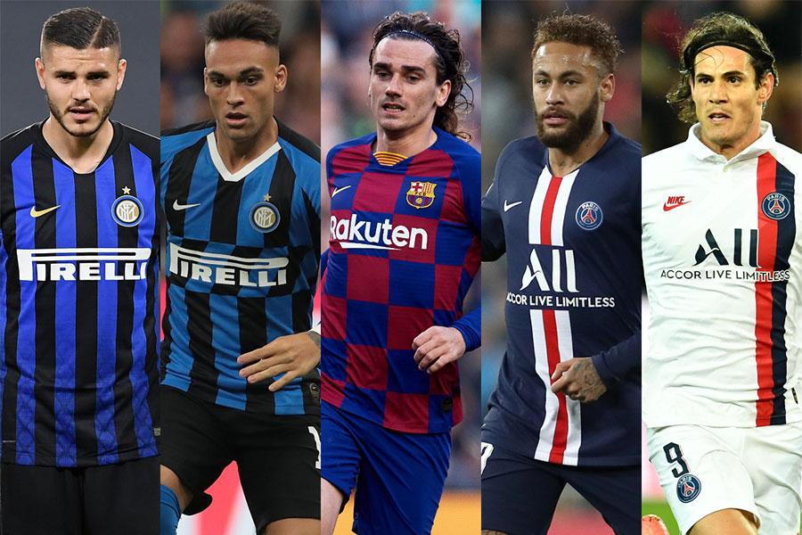 バルセロナ、インテル、PSGの3クラブで玉突き移籍が勃発か【写真:Getty Images】
