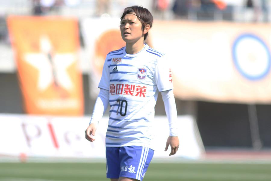 アルビレックス新潟レディースMF上尾野辺めぐみ【写真:Football ZONE web】