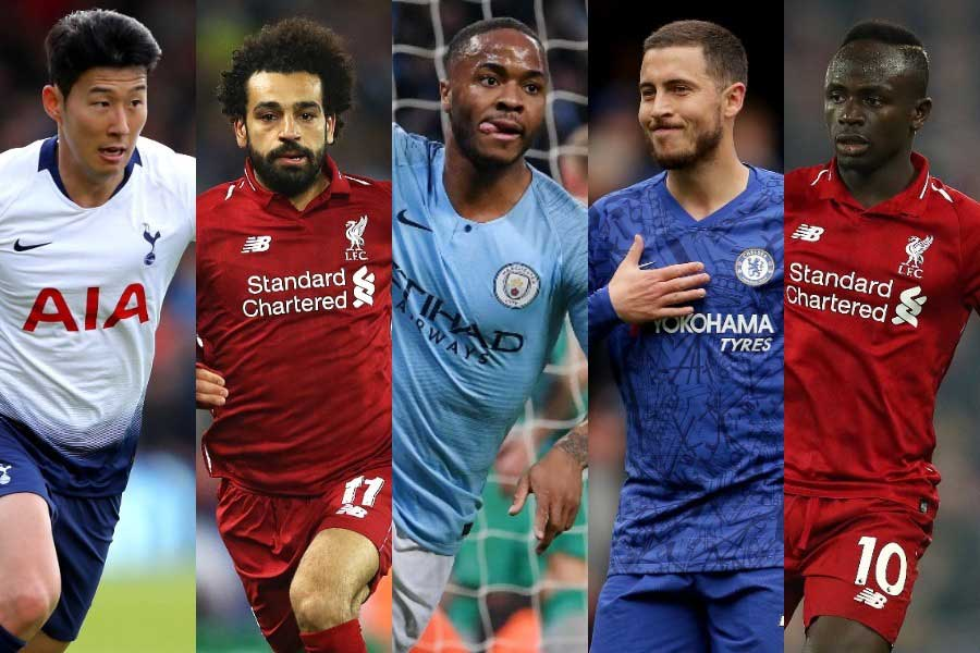 今季のプレミアリーグ「アタッカートップ10」を英サッカー専門メディアが選出【写真:Getty Images】