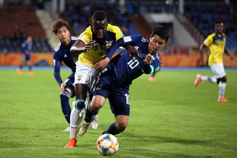 U-20W杯初戦、日本はエクアドルに苦戦を強いられていた【写真:Getty Images】