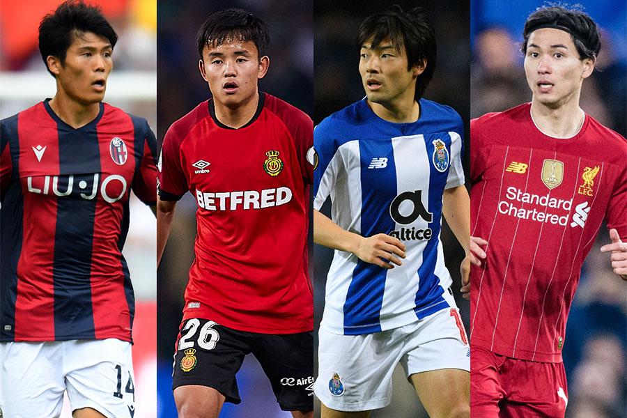 アジア選手での市場価値トップ10に日本からは4選手がランクイン!【写真:Getty Images】