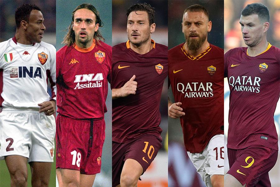ローマの21世紀ベストイレブンに選ばれた選手たち【写真:Getty Images】