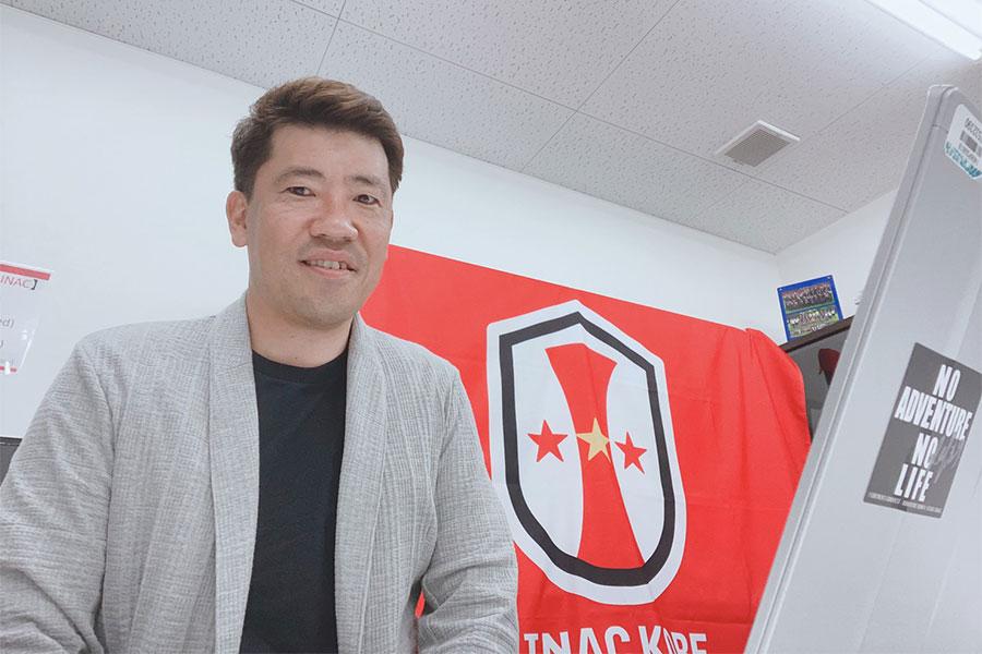 INAC神戸レオネッサの社長を務める安本卓史社長