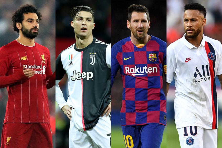 世界のセレブ100人にサッカー界から4選手がランクイン【写真:Getty Images】