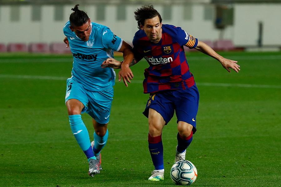 バルセロナFWリオネル・メッシは1ゴールでチームの勝利に貢献【写真:AP】