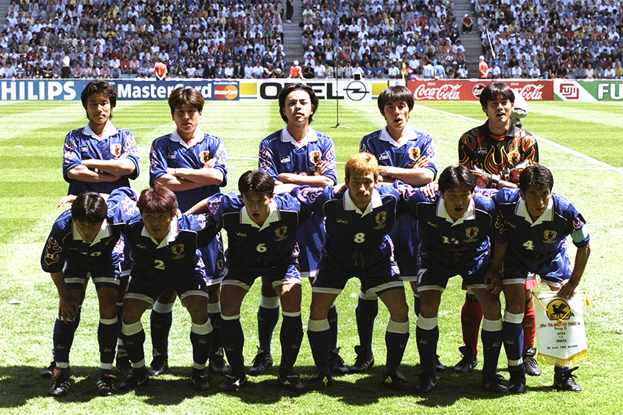 1998年のフランス・ワールドカップに出場した日本代表【写真:Getty Images】