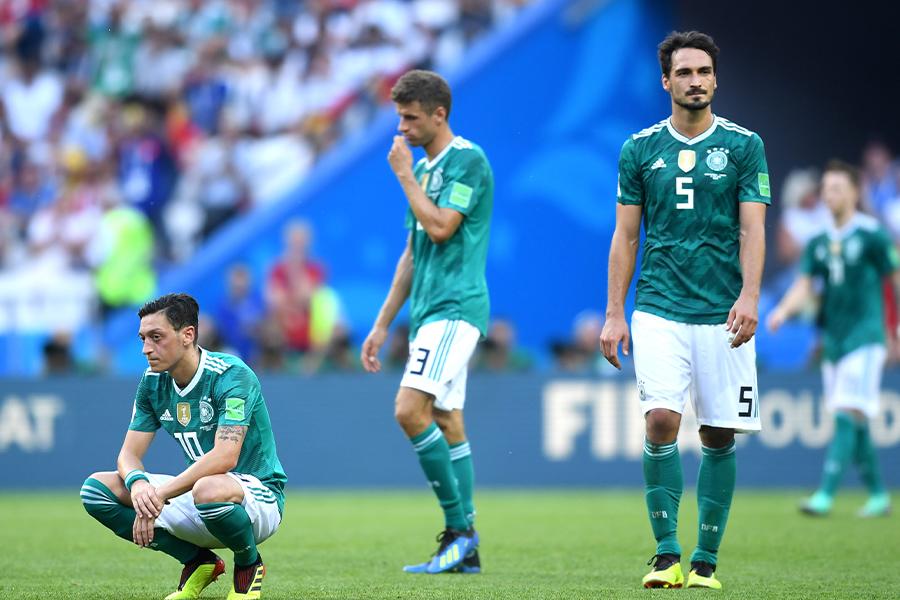 2018年のW杯でグループステージ敗退となったドイツ代表(写真は韓国戦)【写真:Getty Images】