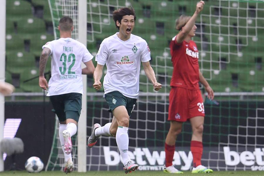 ブレーメンFW大迫勇也が2ゴール1アシストの活躍【写真:Getty Images】