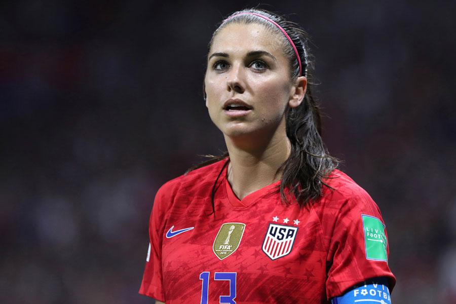 アメリカ女子代表のエースFWモーガン【写真:AP】