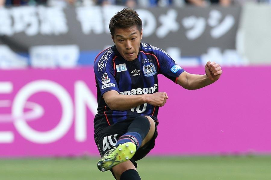 J1とJ3で15試合11得点を挙げているガンバ大阪FW食野亮太郎【写真:Getty Images】