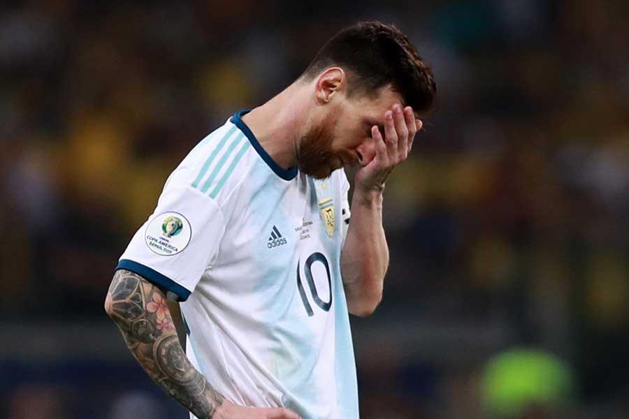 大会(コパ・アメリカ)を通して結果を残せなかったアルゼンチン代表FWメッシ【写真:Getty Images】